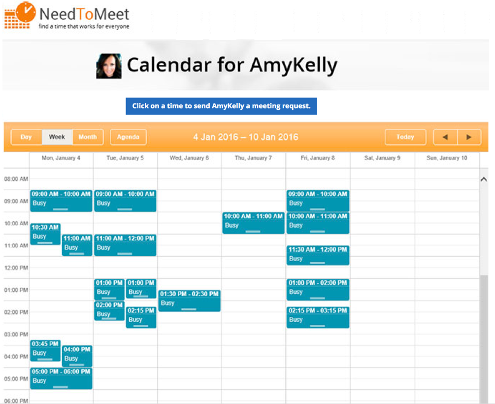 scheduling tool for self